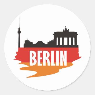 Flag Berlin Classic Round Sticker