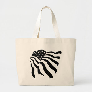 Flag Blowing in the Wind - Large Tote Bag