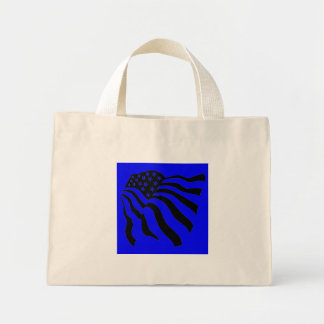 Flag Blowing in the Wind - Mini Tote Bag