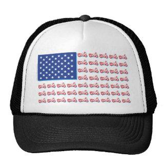 Flag-Blue-Shadow Trucker Hat