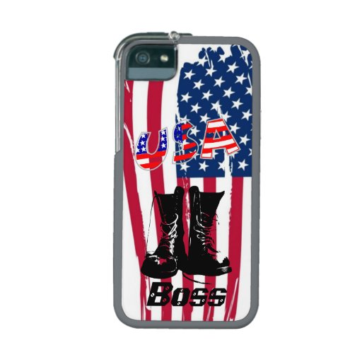 Flag Boot Military Honor Business Destiny American Case For iPhone 5