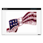 """Flag Bow Diamonds Ruby Vintage Costume Jewelry Skin For 13"""" Laptop"""