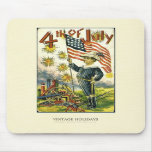 Flag Boy 4th of July Mouse Mat