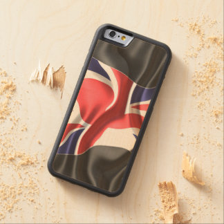 Flag British UK Blue Elegant Decorative Mum Art Carved® Maple iPhone 6 Bumper
