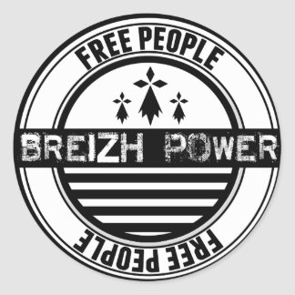 Flag Brittany Breizh free people Classic Round Sticker