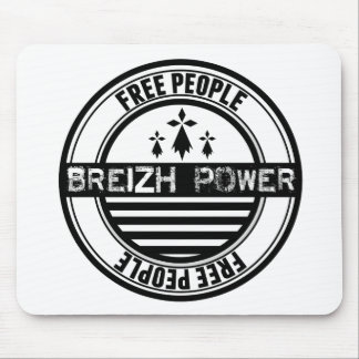Flag Brittany Breizh free people Mouse Pad