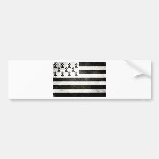 Flag Brittany Vintage Bumper Sticker