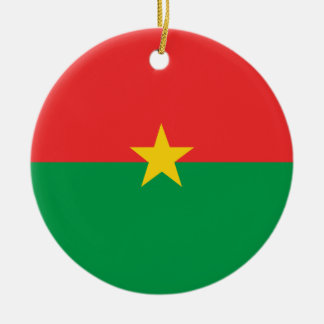 flag_burkina_farso ceramic ornament