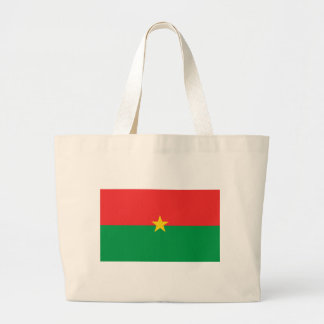 flag_burkina_farso large tote bag