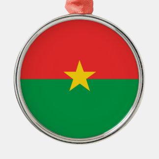 flag_burkina_farso metal ornament