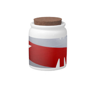 flag butterfly candy jars