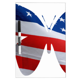 flag butterfly Dry-Erase board
