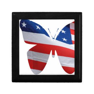 flag butterfly keepsake box