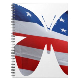 flag butterfly notebook