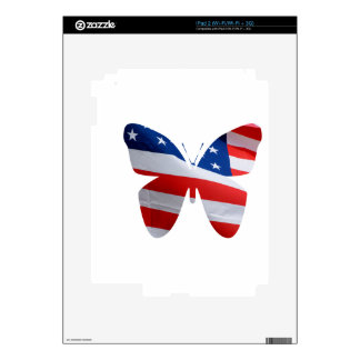 flag butterfly skin for the iPad 2