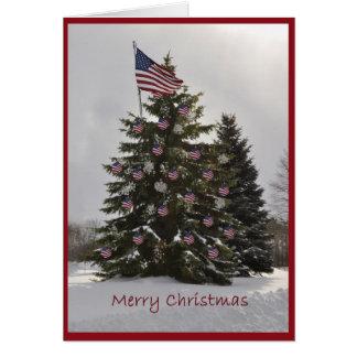 Flag Christmas Tree Greeting Card