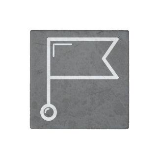 Flag Connectors Minimal Stone Magnet