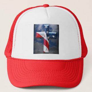 Flag Cross Trucker Hat