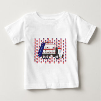 Flag Day Garbage Truck June Baby T-Shirt