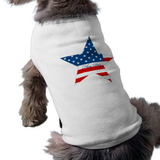 Flag Day Star Dog T-shirt