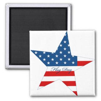 Flag Day Star Fridge Magnet