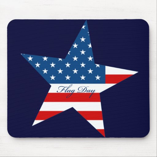 Flag Day Star Mouse Pad