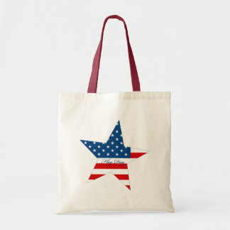 Flag Day Star Tote Bags