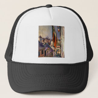 Flag Decorated Street by Pierre-Auguste Renoir Trucker Hat