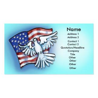Flag Dove Card Business Card Template