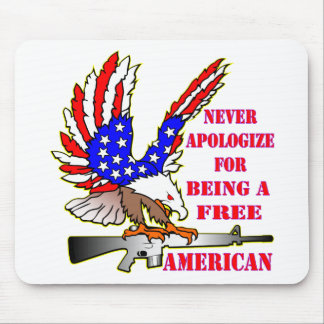 Flag Eagle Ar-15 M16 Never Apologize For Being Mouse Pad