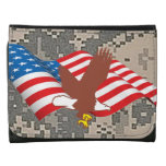 Flag Eagle Dad Office Business Destiny American Wallets
