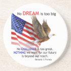 Flag & Eagle Donald J Trump Quote Sandstone Coaster
