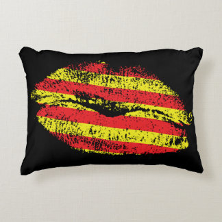 Flag Estelada Catalonia and Labios Accent Pillow