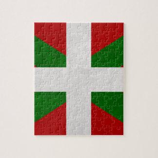 Flag Euskadi Pays Basque Jigsaw Puzzle