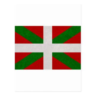 Flag Euskadi Pays Basque Postcard