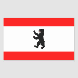 Flag Flagge Fahne Berlin Germany Rectangle Stickers