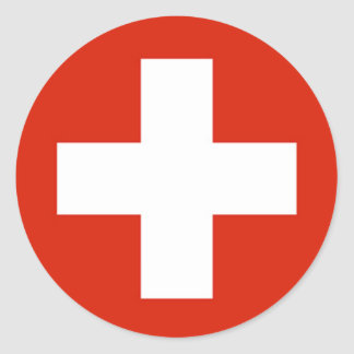 Flag - Flagge - Fahne - Switzerland - Schweiz Sticker