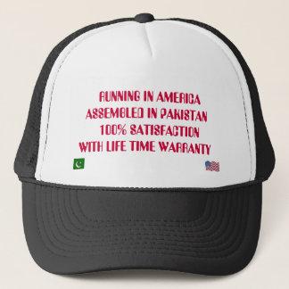 FLAG, FLAGUSA,    RUNNING IN AMERICA ASSEMBLED ... TRUCKER HAT
