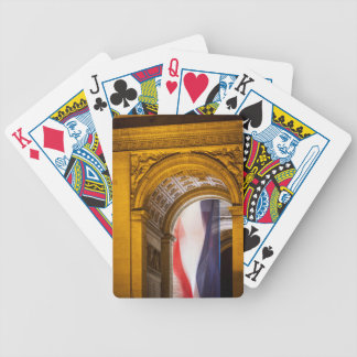Flag Flies Inside The Arc De Triomphe, Paris Bicycle Playing Cards