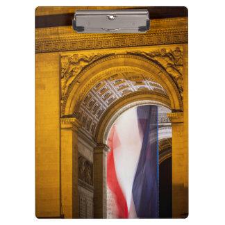 Flag Flies Inside The Arc De Triomphe, Paris Clipboard