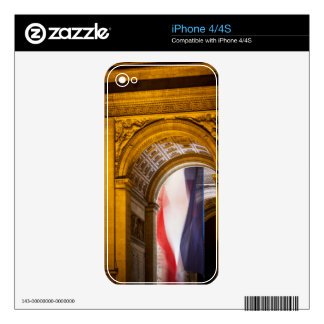 Flag Flies Inside The Arc De Triomphe, Paris iPhone 4S Skins