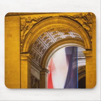 Flag Flies Inside The Arc De Triomphe, Paris Mouse Pad