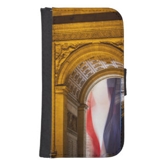 Flag Flies Inside The Arc De Triomphe, Paris Phone Wallet