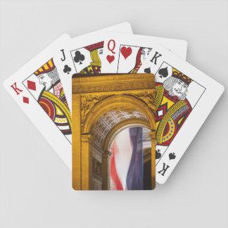 Flag Flies Inside The Arc De Triomphe, Paris Playing Cards