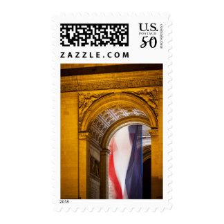 Flag Flies Inside The Arc De Triomphe, Paris Postage