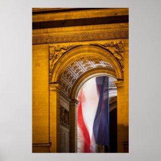 Flag Flies Inside The Arc De Triomphe, Paris Poster