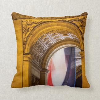 Flag Flies Inside The Arc De Triomphe, Paris Throw Pillow