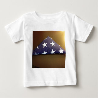 Flag for a fallen hero - blue and white stars baby T-Shirt