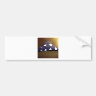 Flag for a fallen hero - blue and white stars bumper sticker