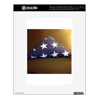 Flag for a fallen hero - blue and white stars decal for NOOK